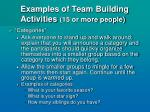 examples of team building activities 15 or more people