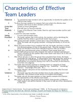 characteristics of effective team leaders