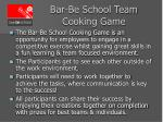 bar be school team cooking game