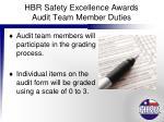 hbr safety excellence awards audit team member duties6