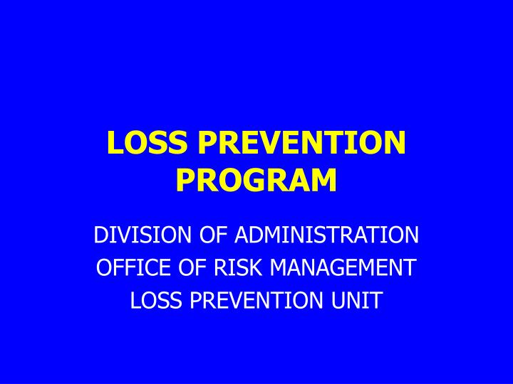 loss prevention program n.