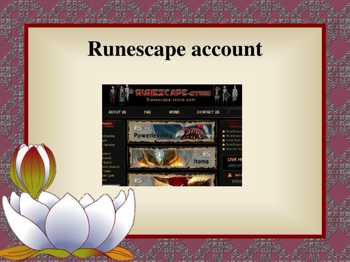 runescape account n.