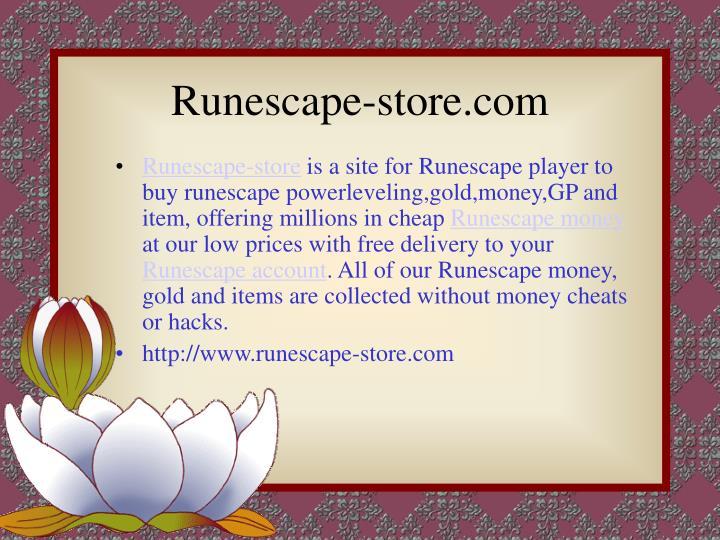 Runescape store com