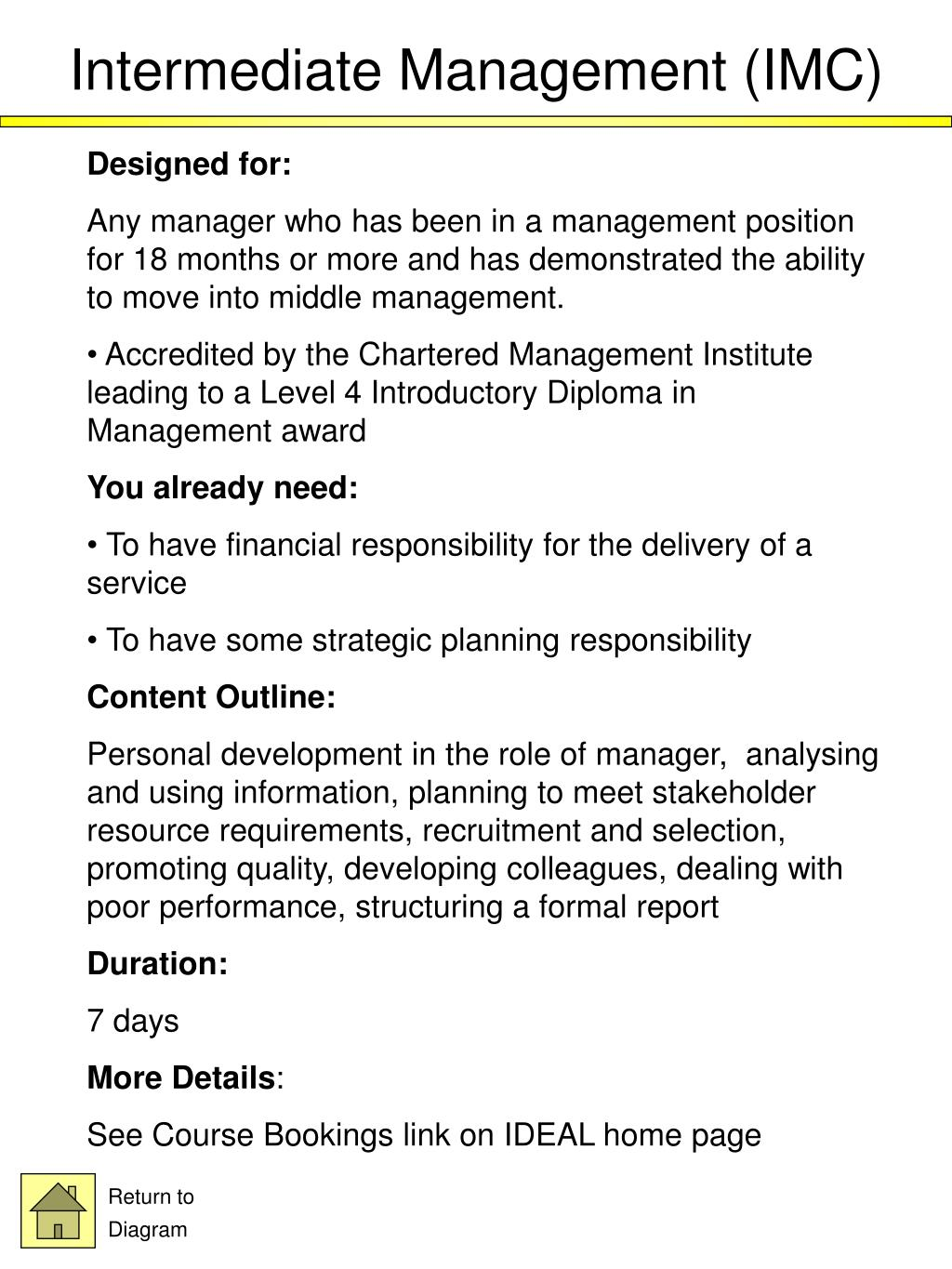 Intermediate Management (IMC)