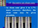 xii incentive on clean cane
