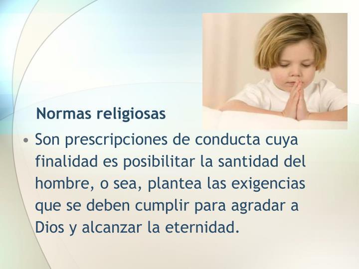 Normas religiosas