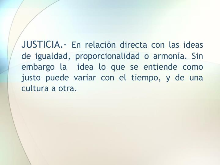 JUSTICIA.-