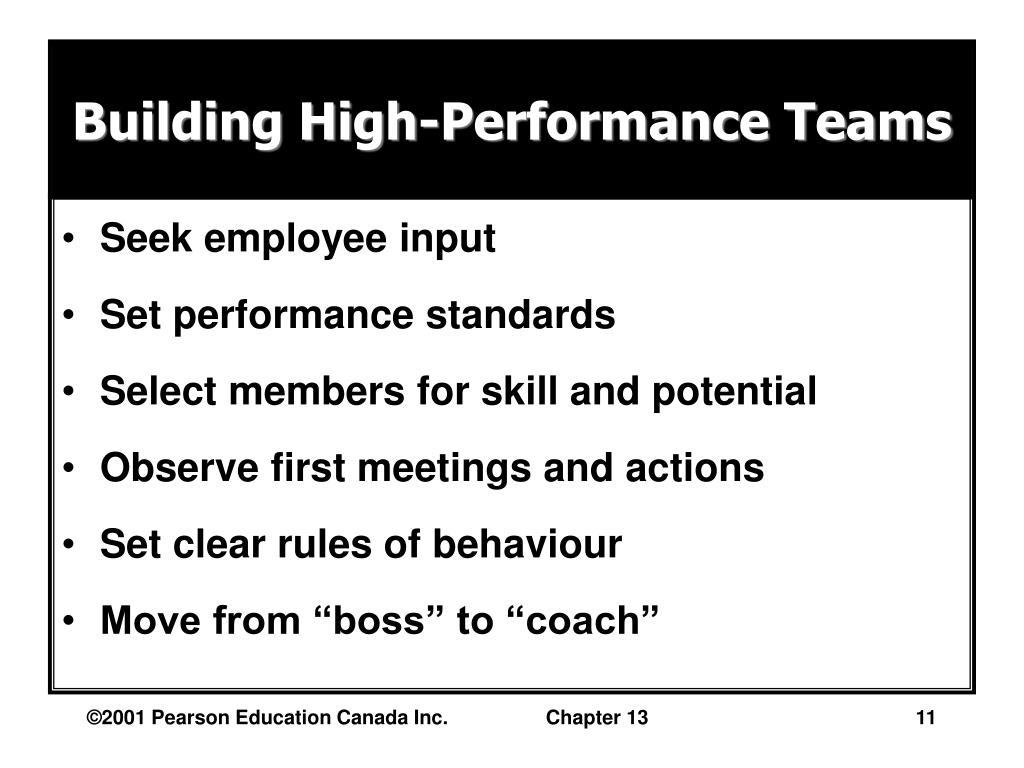 Building High-Performance Teams