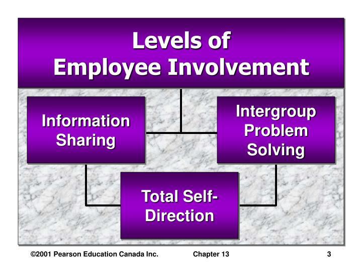 Levels of employee involvement