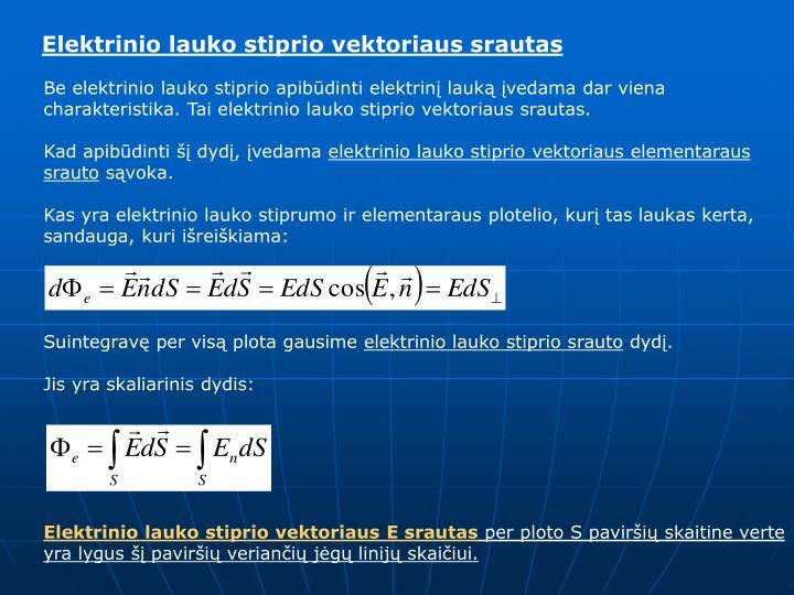 Elektrinio lauko stiprio vektoriaus srautas