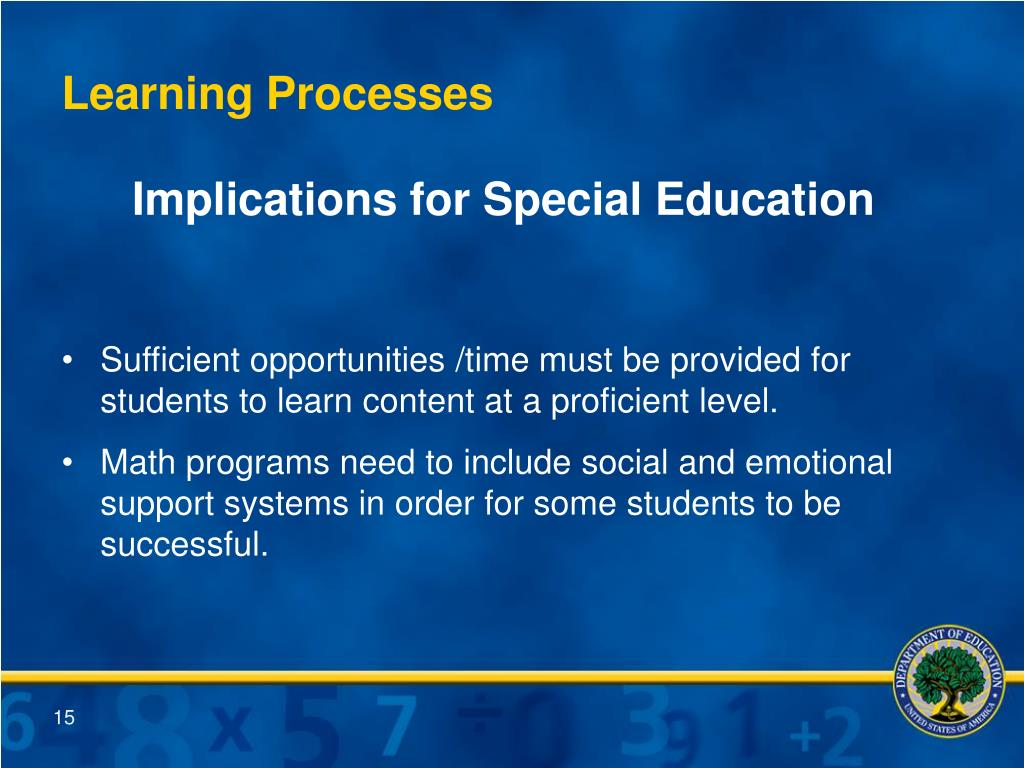 Implications for Special Education