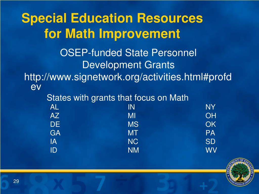 Special Education Resources for Math Improvement