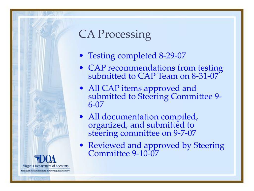 CA Processing