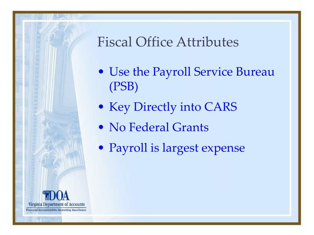 Fiscal Office Attributes