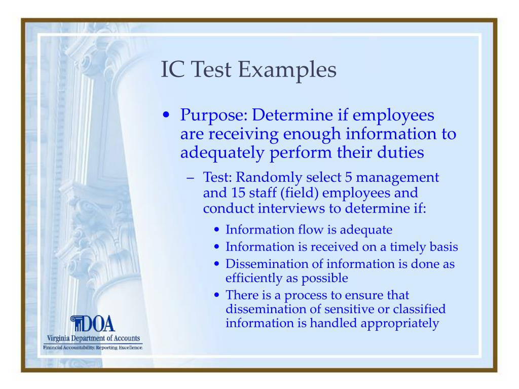 IC Test Examples