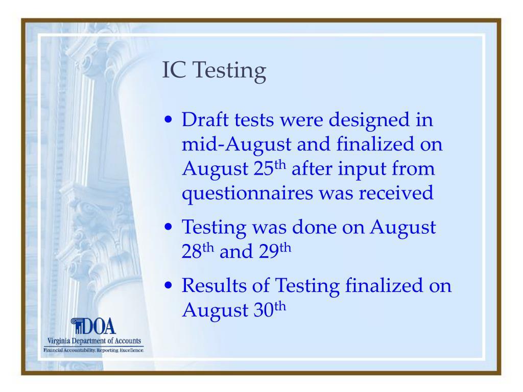 IC Testing