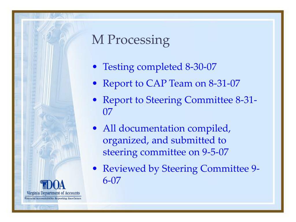 M Processing