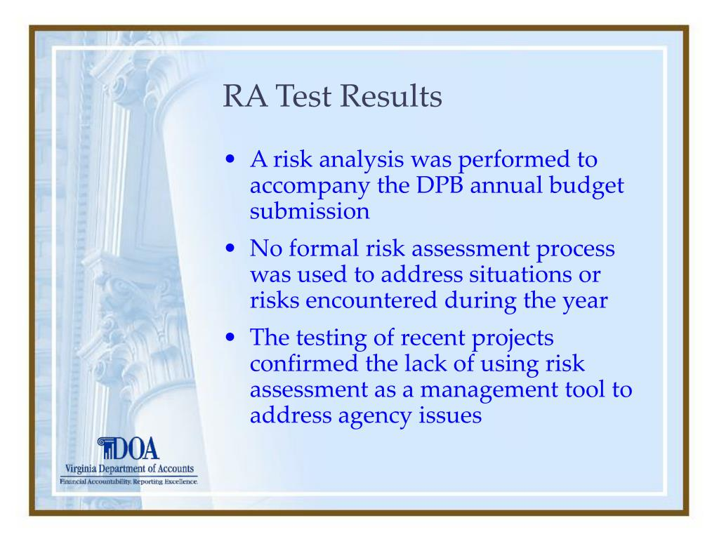 RA Test Results