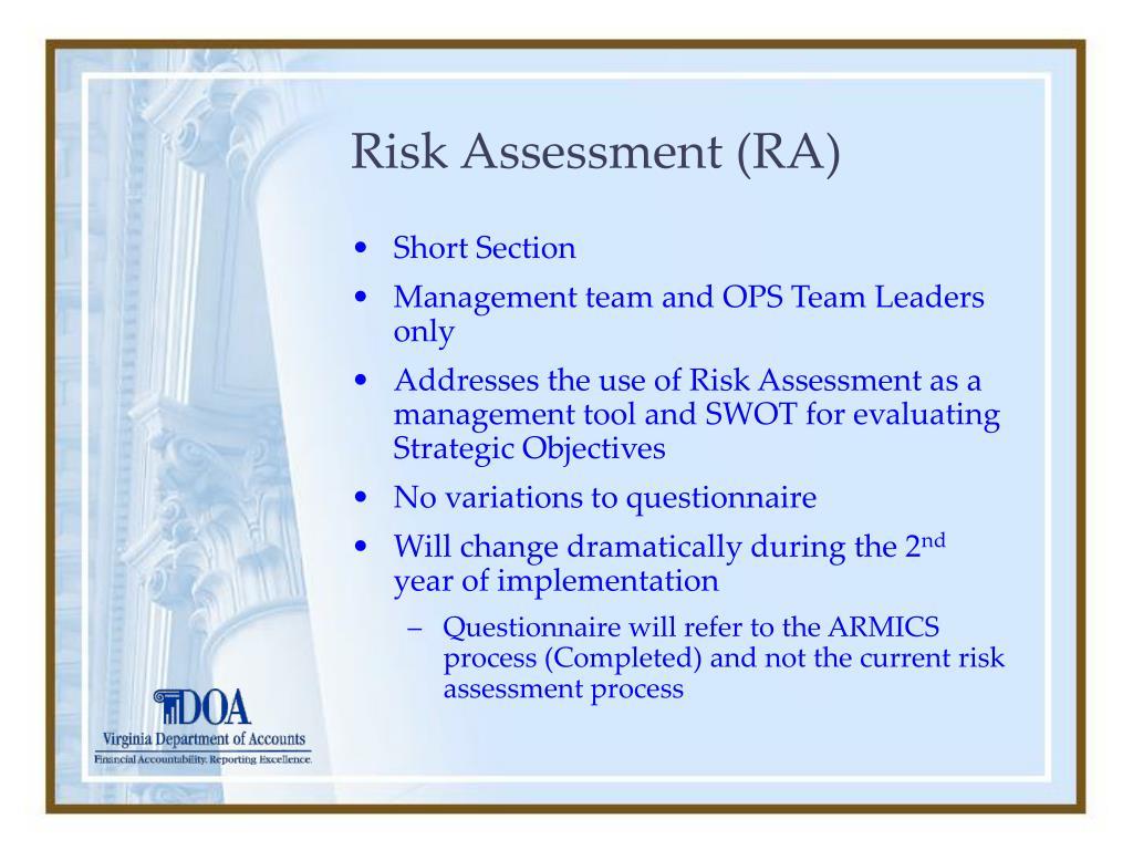 Risk Assessment (RA)