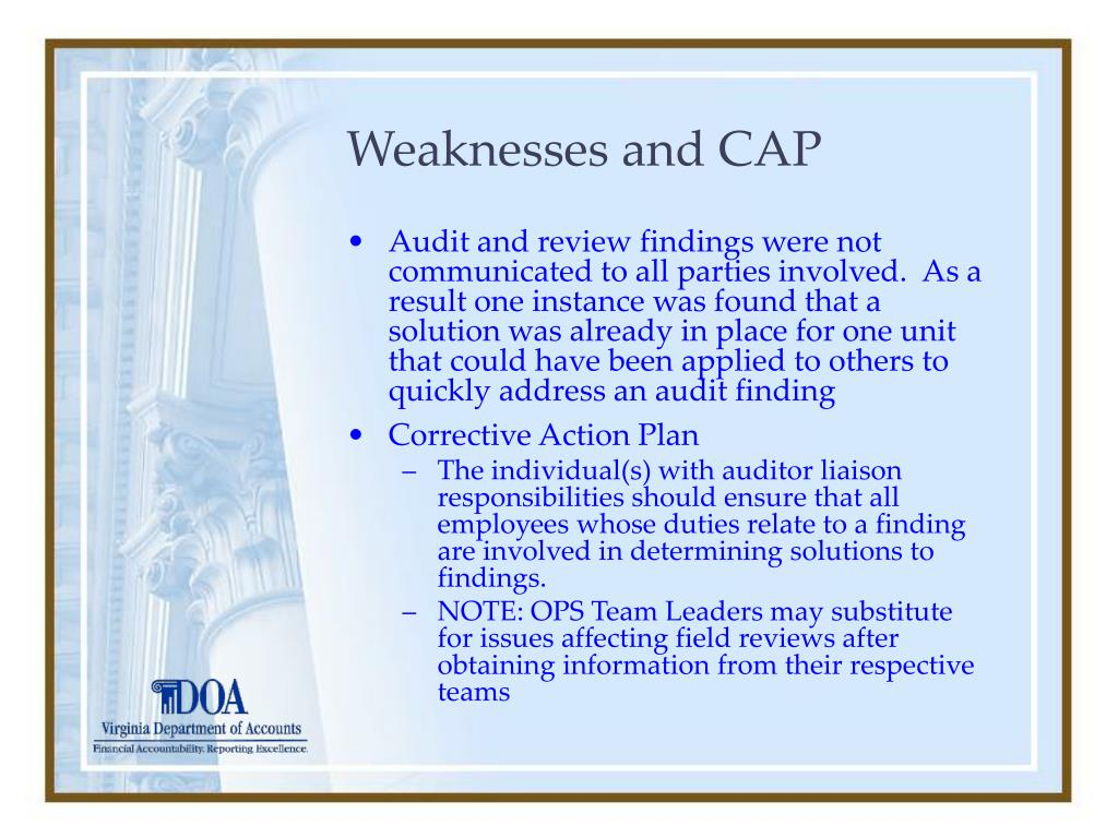 Weaknesses and CAP