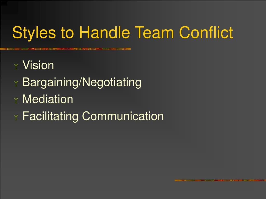 Styles to Handle Team Conflict