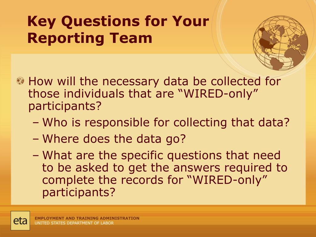 Key Questions for Your Reporting Team