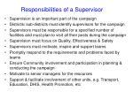 responsibilities of a supervisor