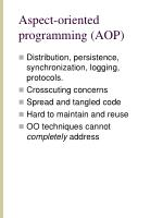 aspect oriented programming aop
