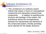 software architecture 2