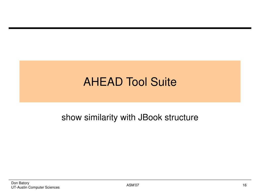 AHEAD Tool Suite