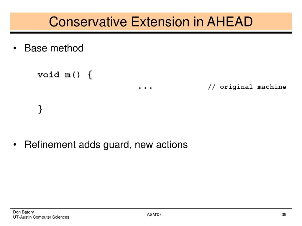 Conservative Extension in AHEAD