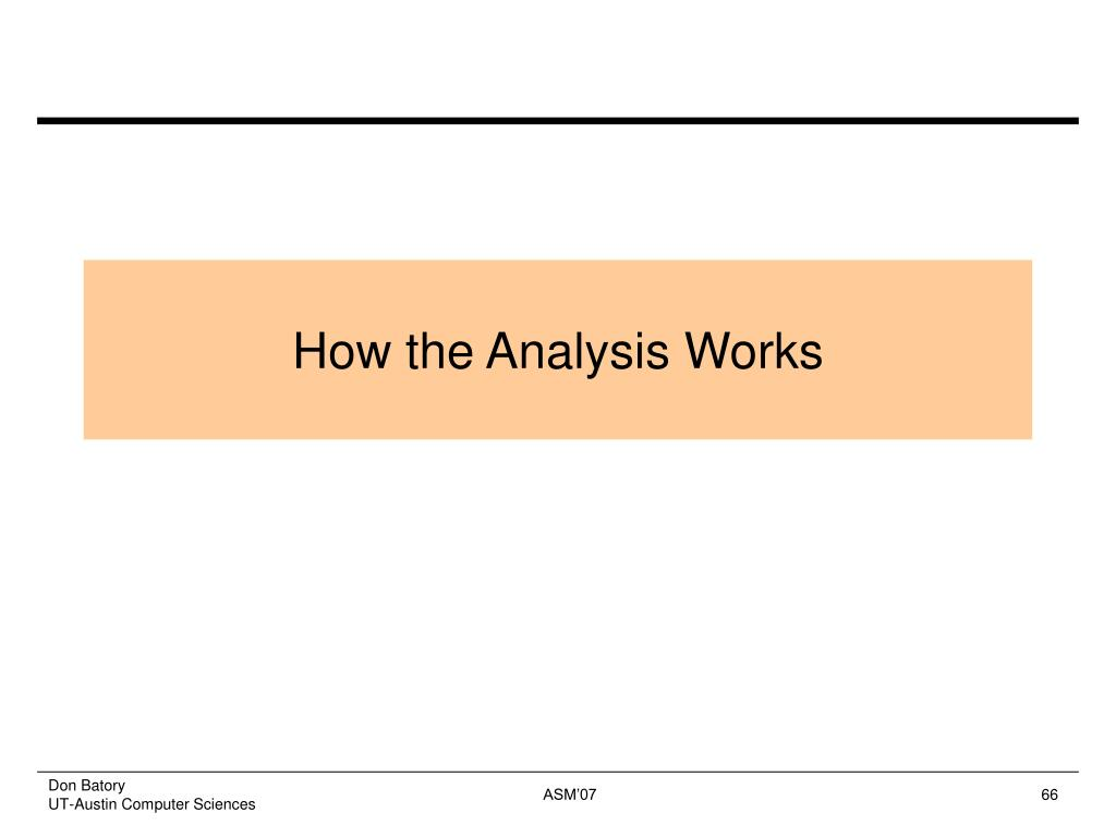 How the Analysis Works