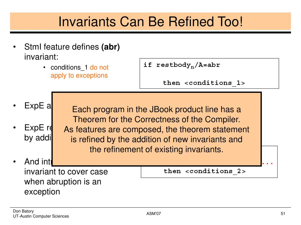 Invariants Can Be Refined Too!