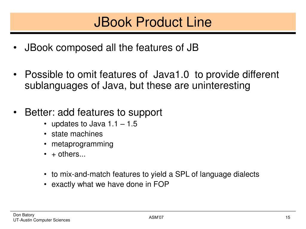 JBook Product Line