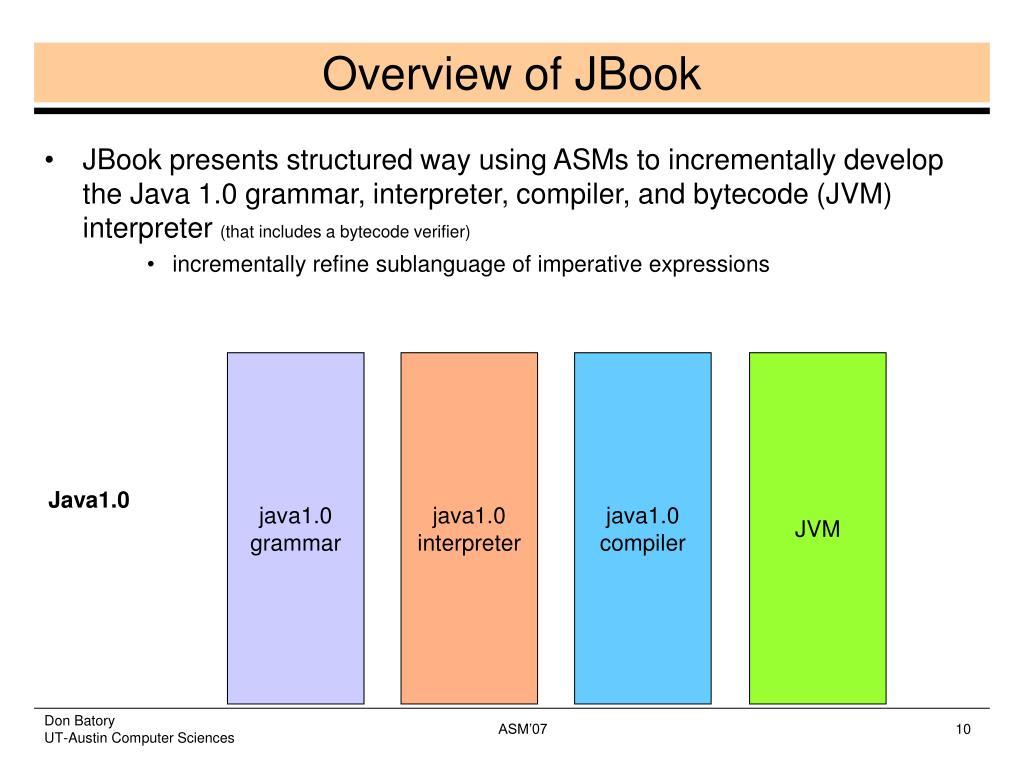 Overview of JBook