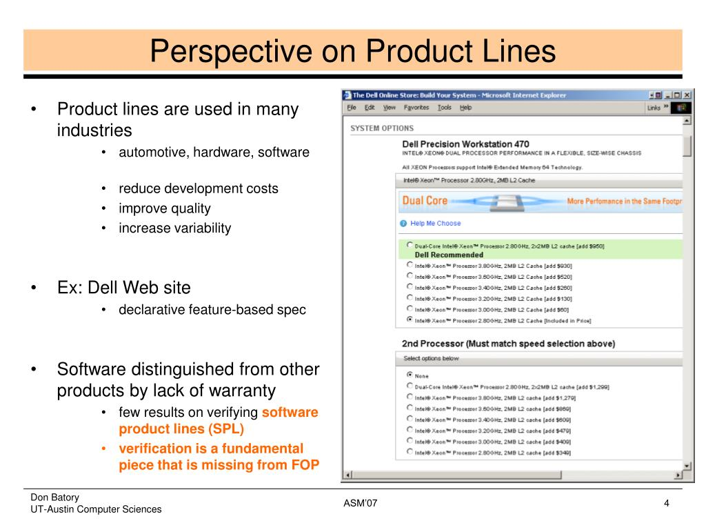 Product lines are used in many industries