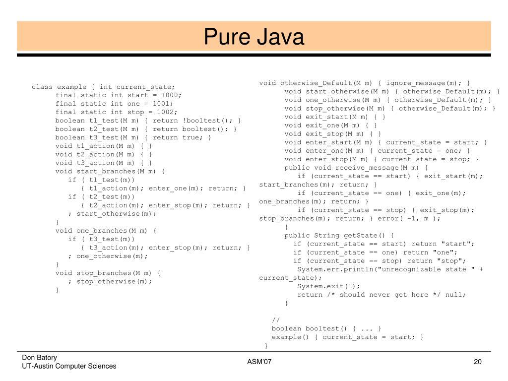 Pure Java