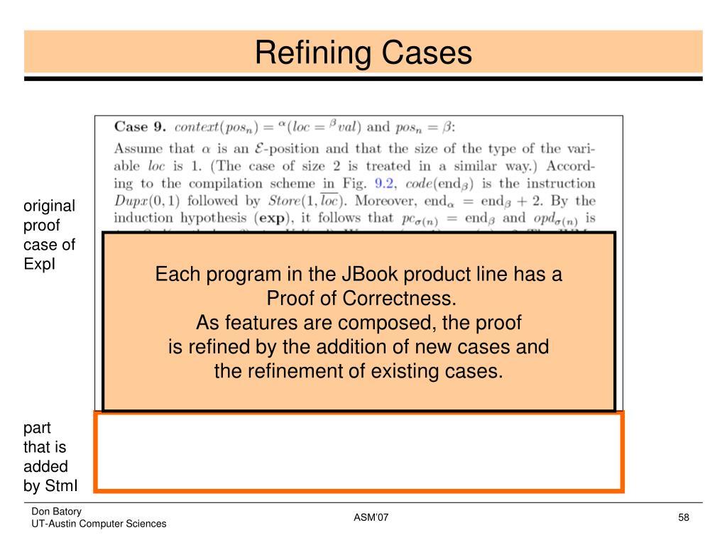 Refining Cases