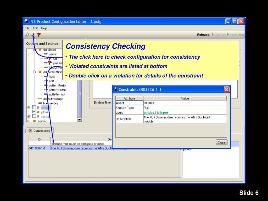 Consistency Checking