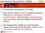 introducing reuse peter 2000