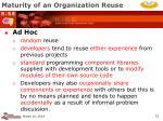 maturity of an organization reuse33