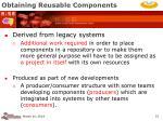 obtaining reusable components15