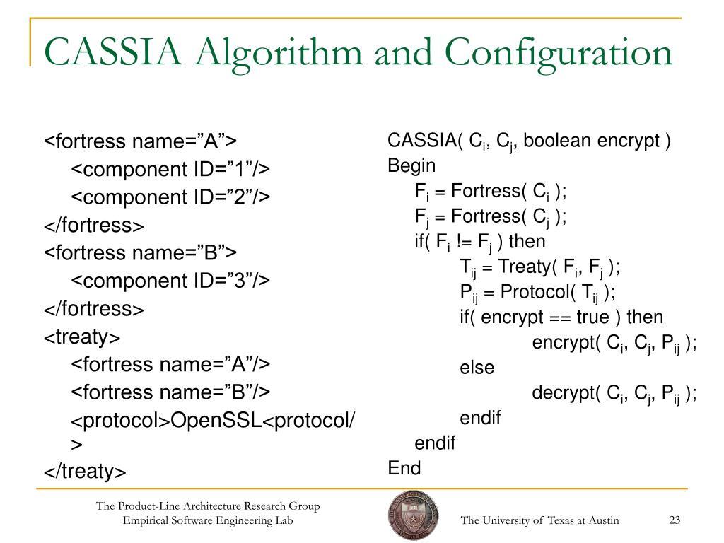 CASSIA Algorithm and Configuration
