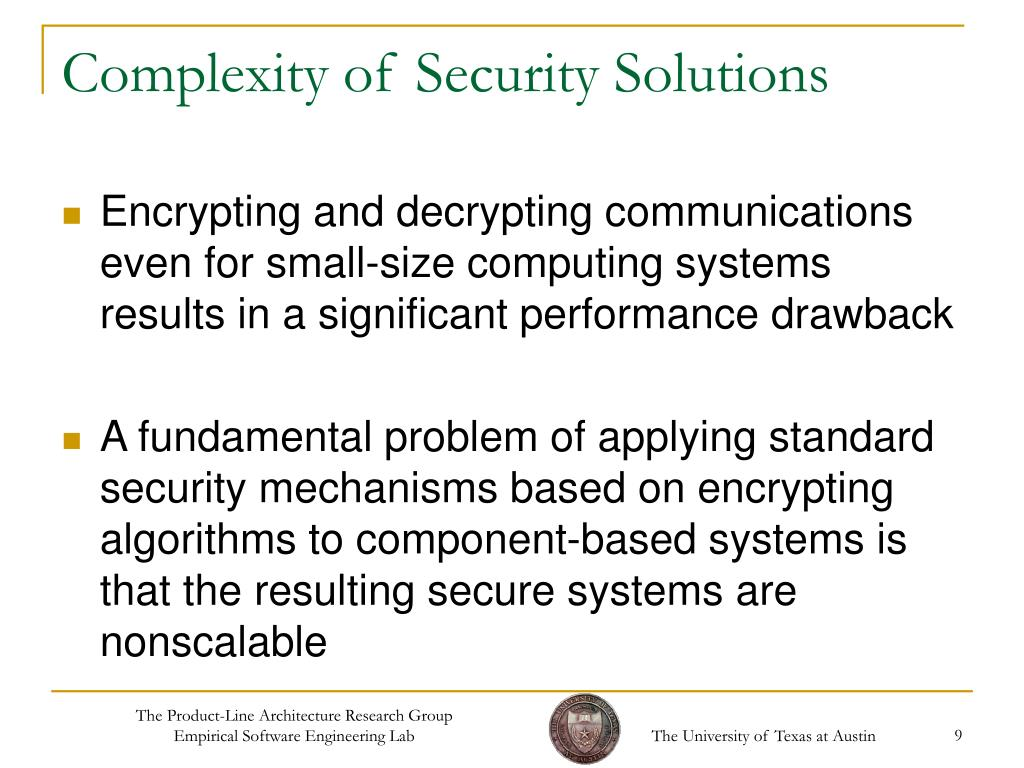 Complexity of Security Solutions
