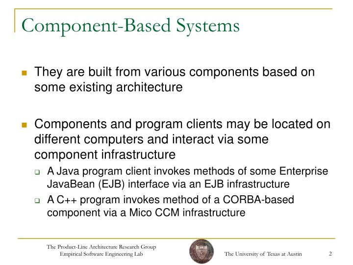 Component based systems