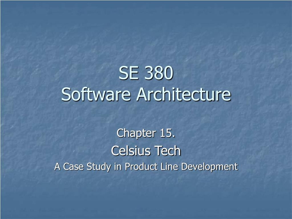 se 380 software architecture l.