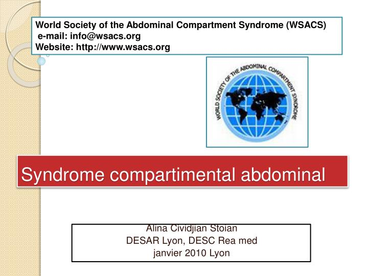 syndrome compartimental abdominal n.