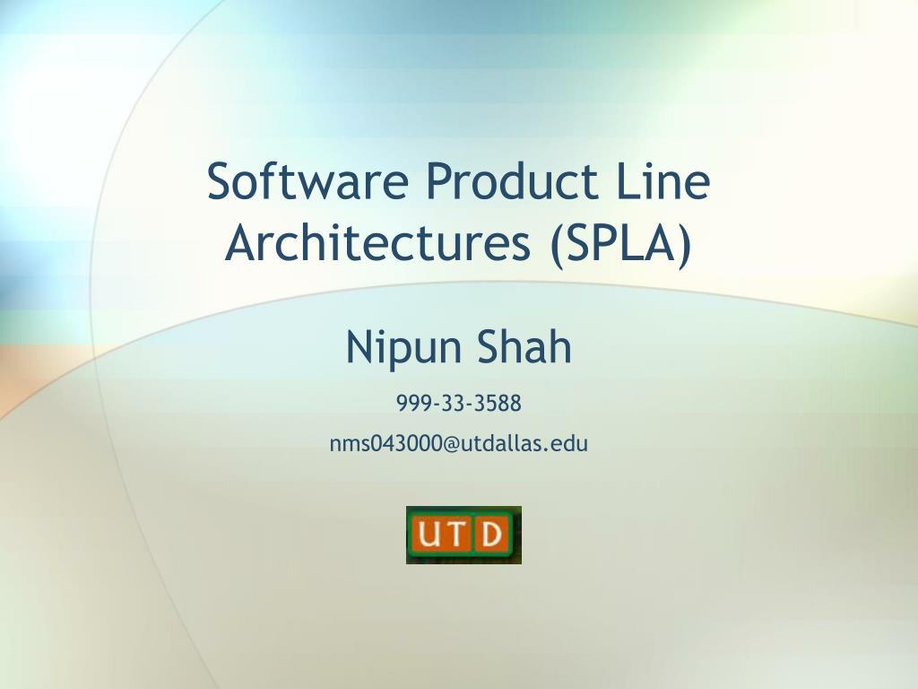 software product line architectures spla l.