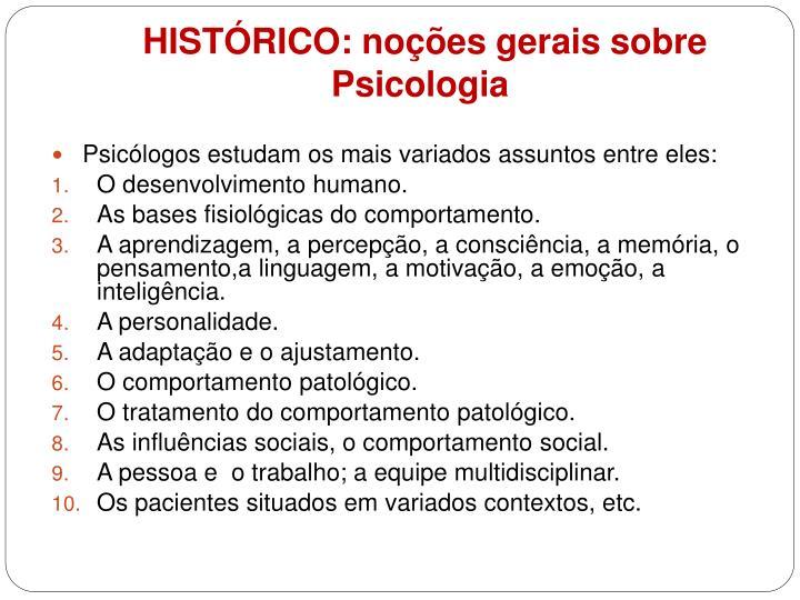 Hist rico no es gerais sobre psicologia1