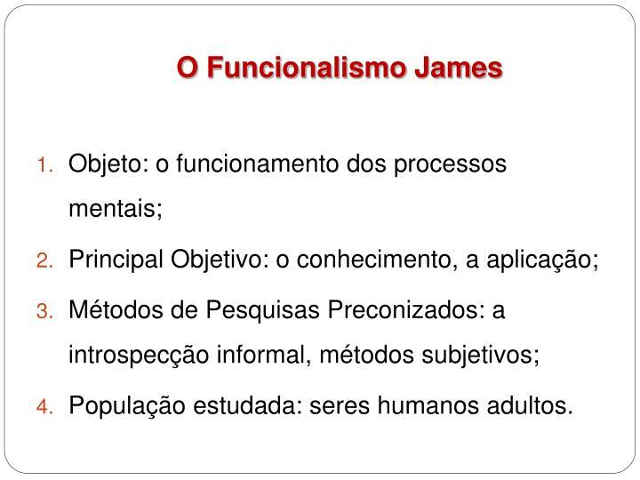 O Funcionalismo James